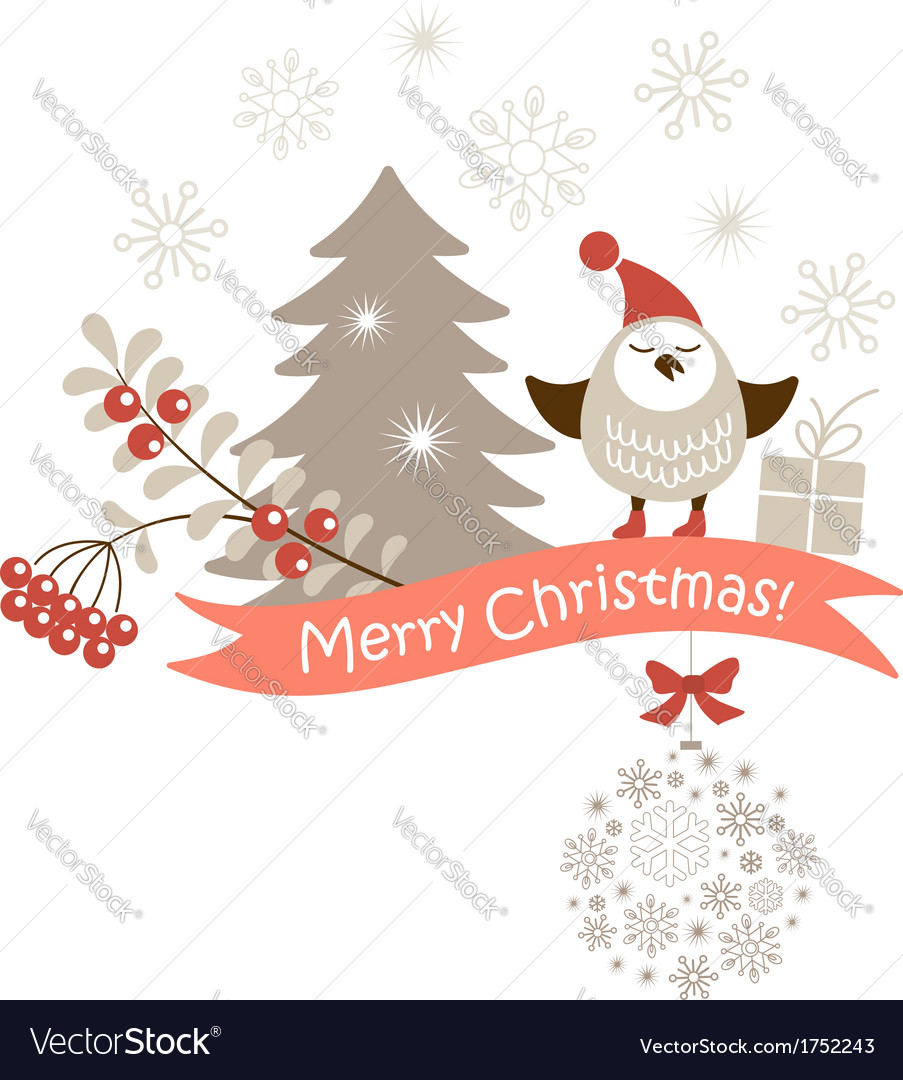 Christmas card vector | Price:  Credit (USD $)