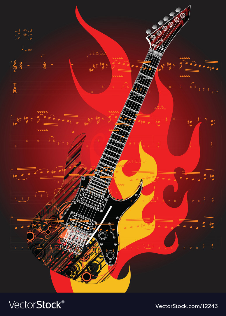 Guitar illustration vector | Price: 3 Credit (USD $3)