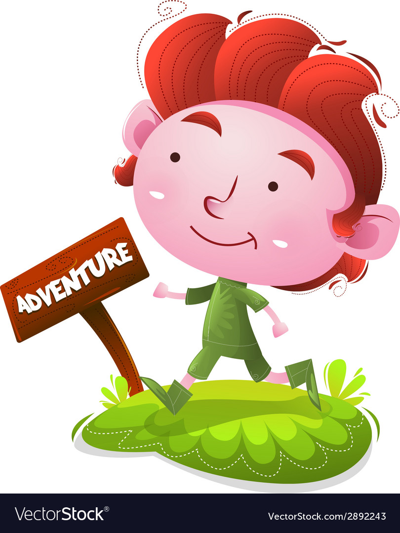 Kids walk to the adventure vector | Price: 1 Credit (USD $1)