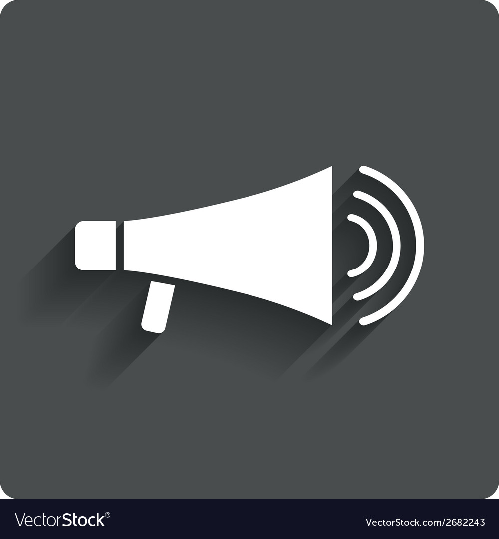 Megaphone soon icon loudspeaker symbol vector | Price: 1 Credit (USD $1)