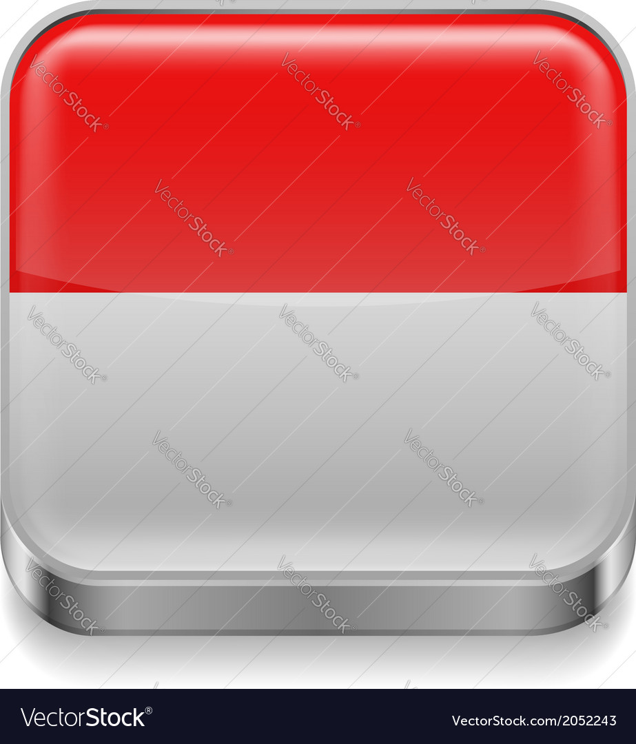 Metal icon of indonesia vector | Price: 1 Credit (USD $1)
