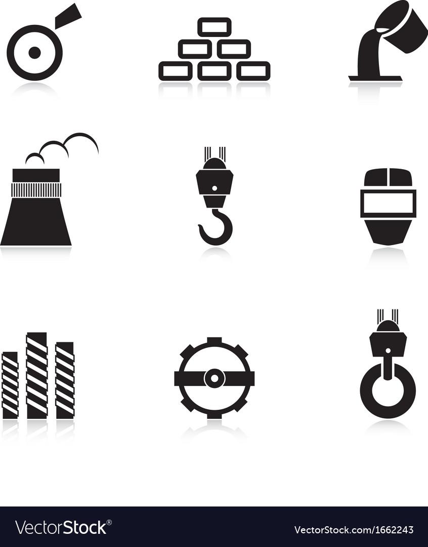 Metal industry icon set vector | Price: 1 Credit (USD $1)