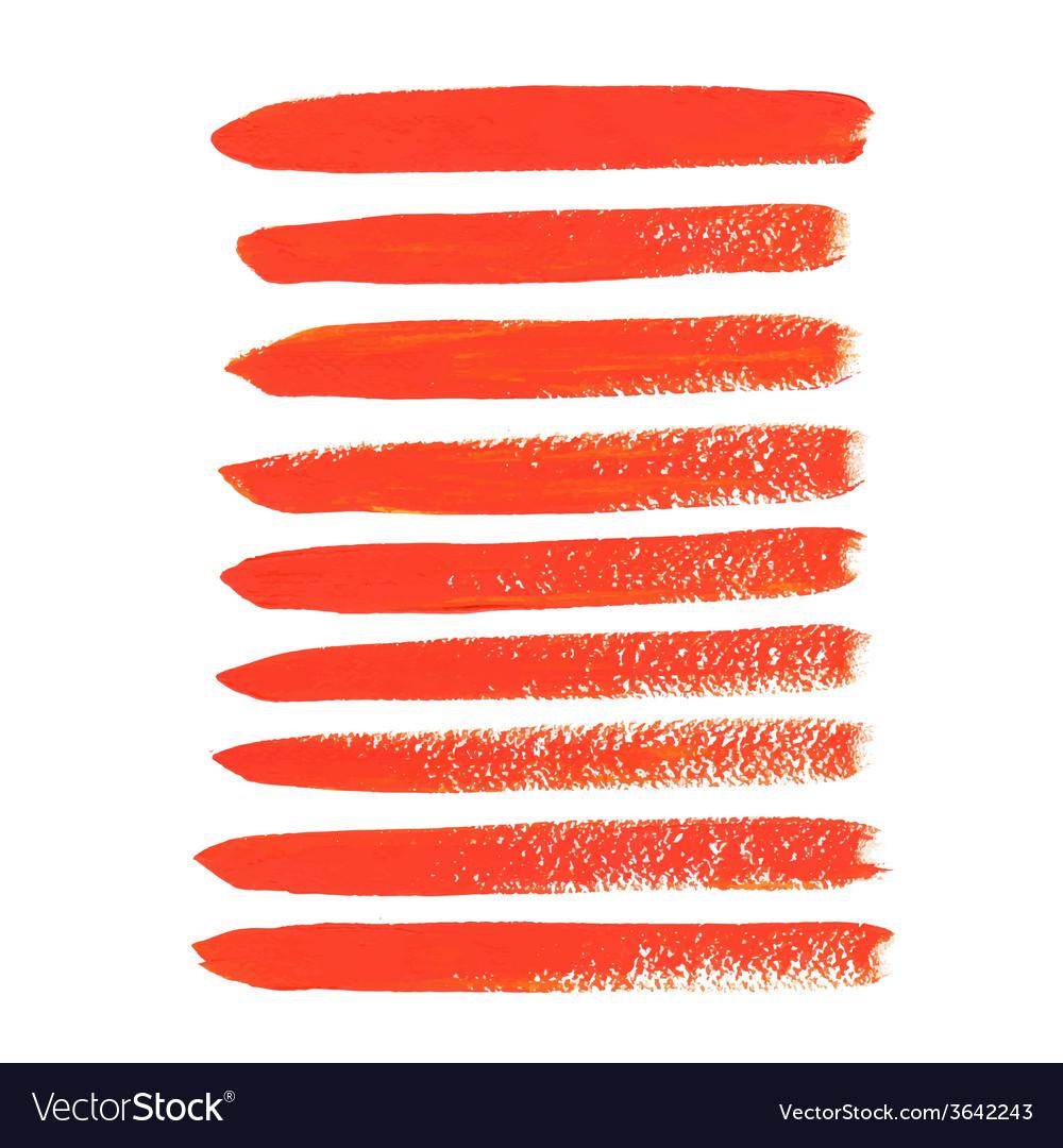 Orange acrylic brush strokes vector | Price: 1 Credit (USD $1)