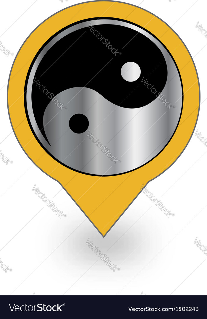 Placement with ying and yang symbol vector | Price: 1 Credit (USD $1)