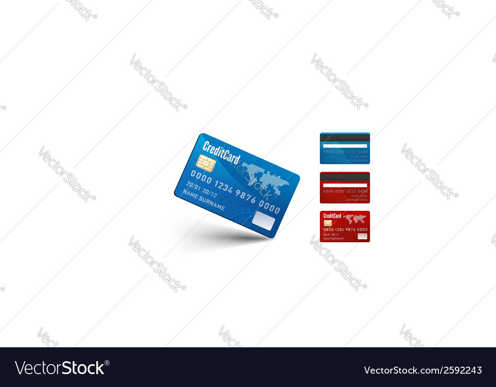 Realistic credit card two sides vector | Price: 1 Credit (USD $1)