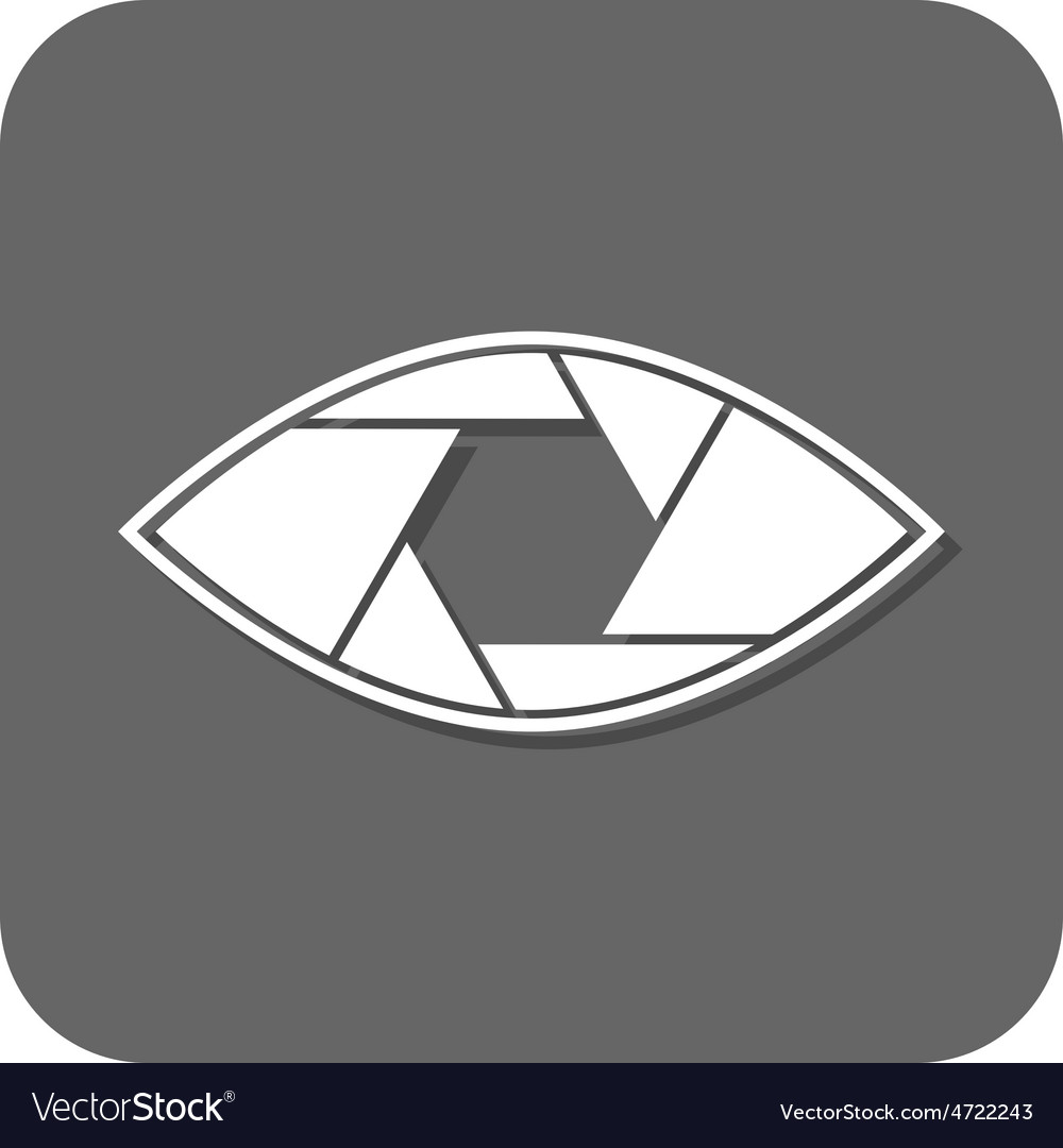 Shutter eye conceptual flat abstract icon vector | Price: 1 Credit (USD $1)