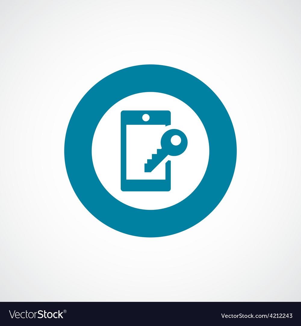 Smartphone lock icon bold blue circle border vector | Price: 1 Credit (USD $1)