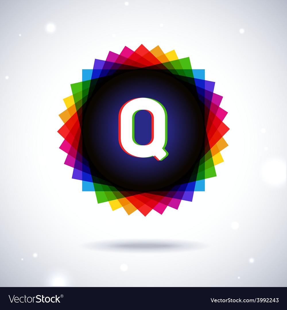 Spectrum logo icon letter q vector | Price: 1 Credit (USD $1)