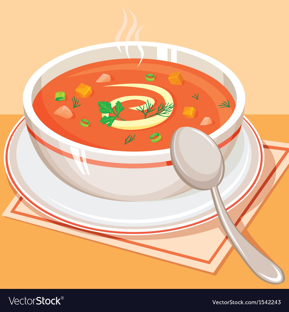 Tomato vegetable soup vector | Price: 1 Credit (USD $1)