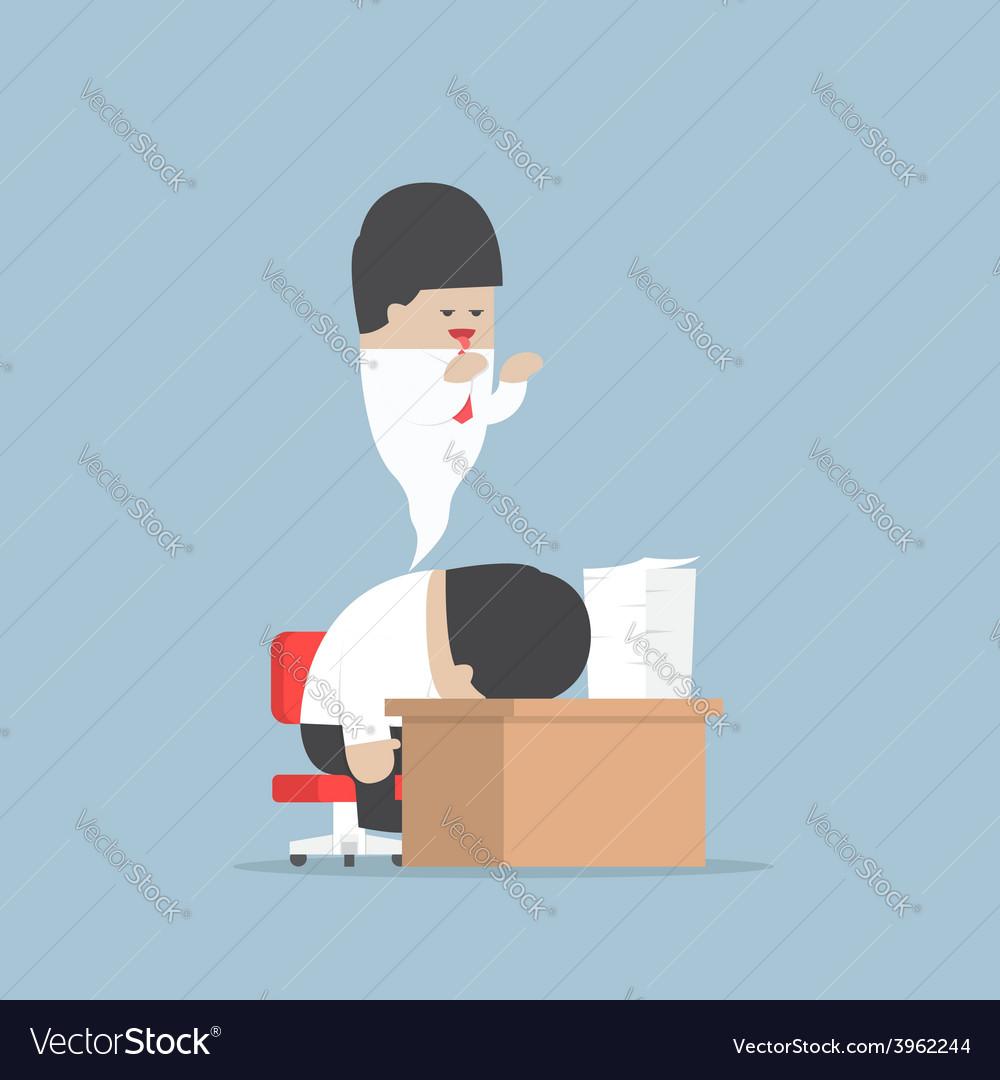 Businessman work hard until dead vector | Price: 1 Credit (USD $1)