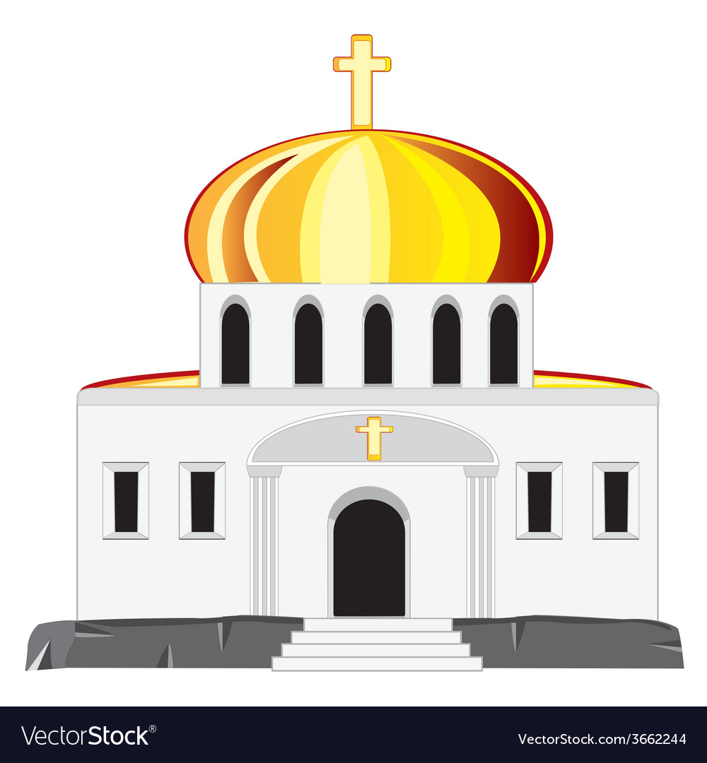 Church with dome vector | Price: 1 Credit (USD $1)