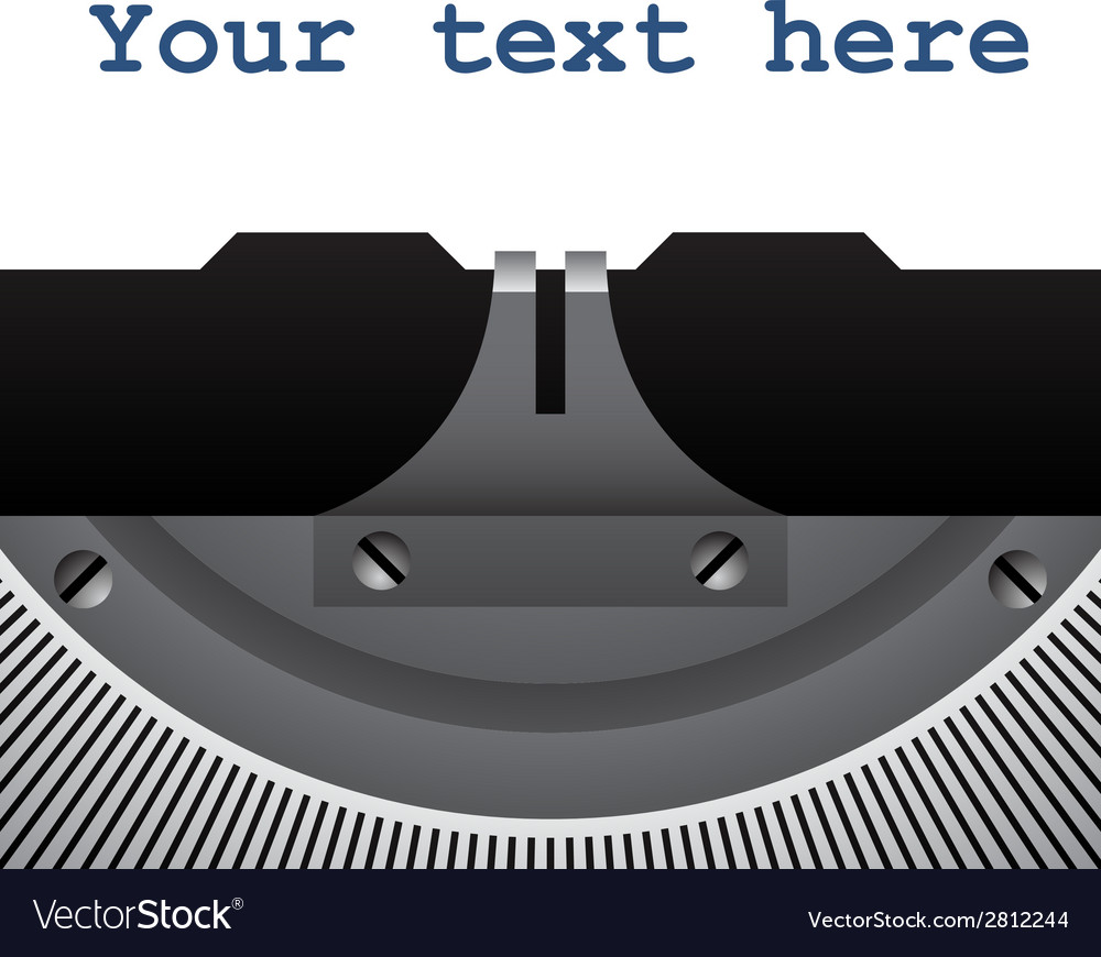 Detail of vintage typewriter vector | Price: 1 Credit (USD $1)