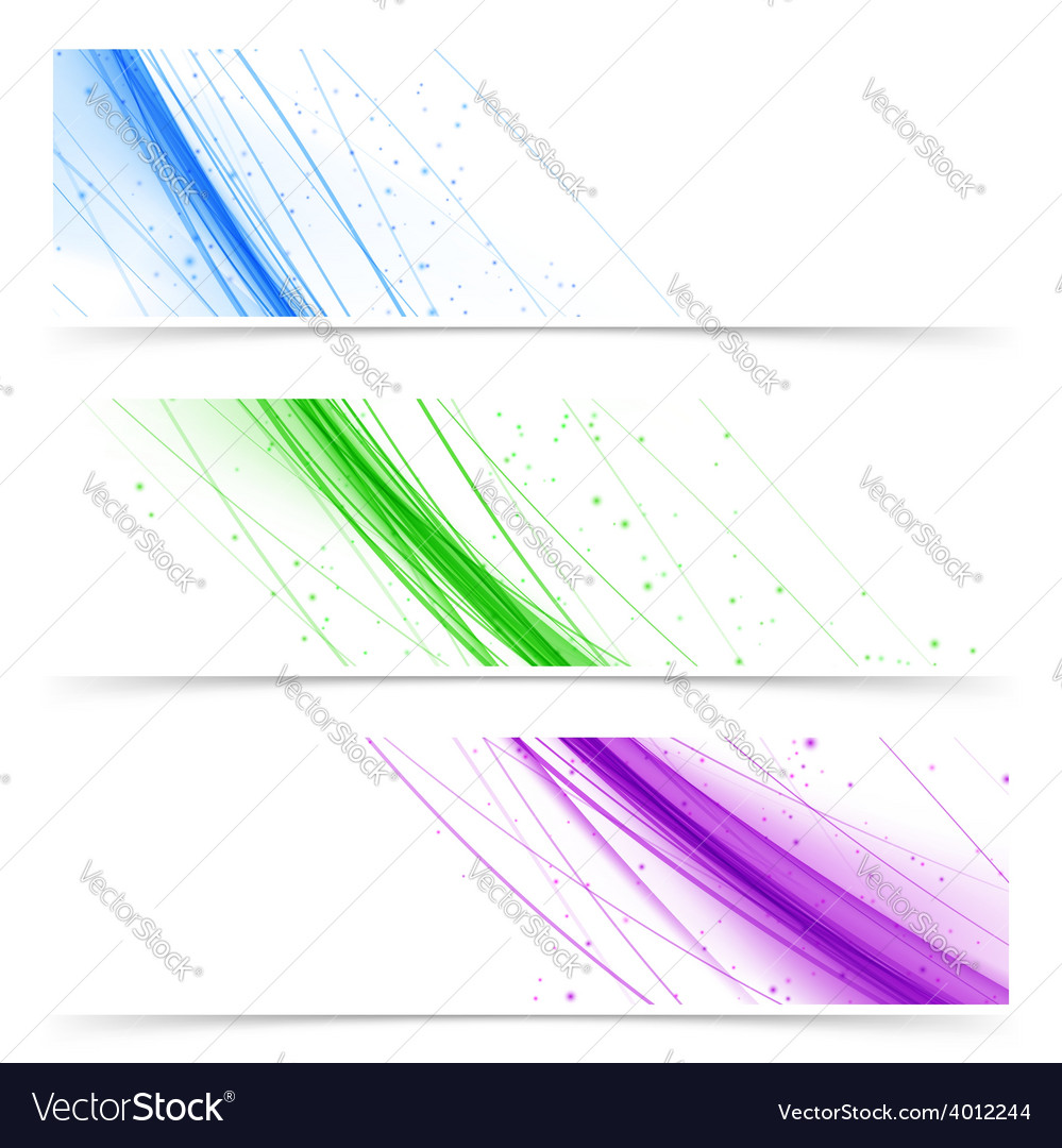 Modern web colorful bright banners collection vector | Price: 1 Credit (USD $1)