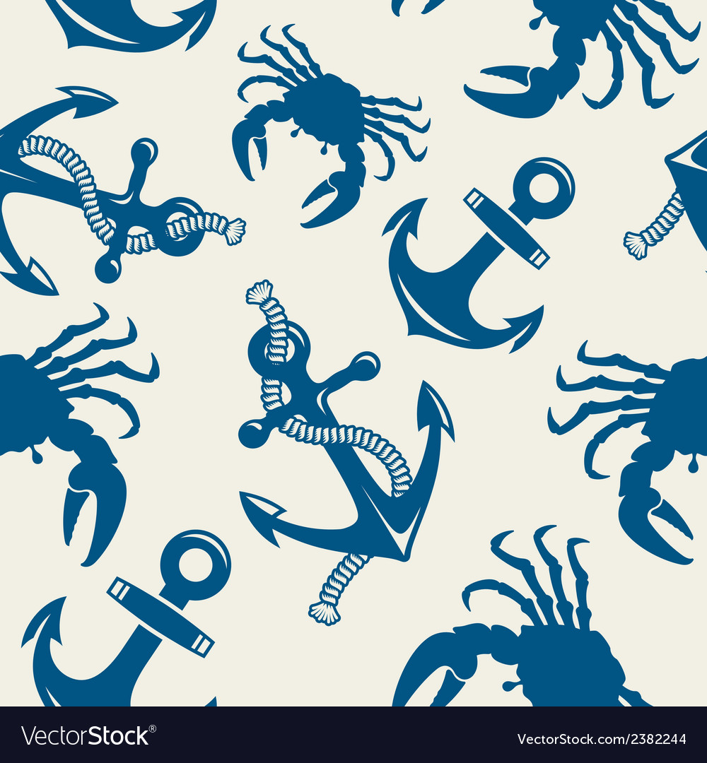 Seamless marine background vector | Price: 1 Credit (USD $1)