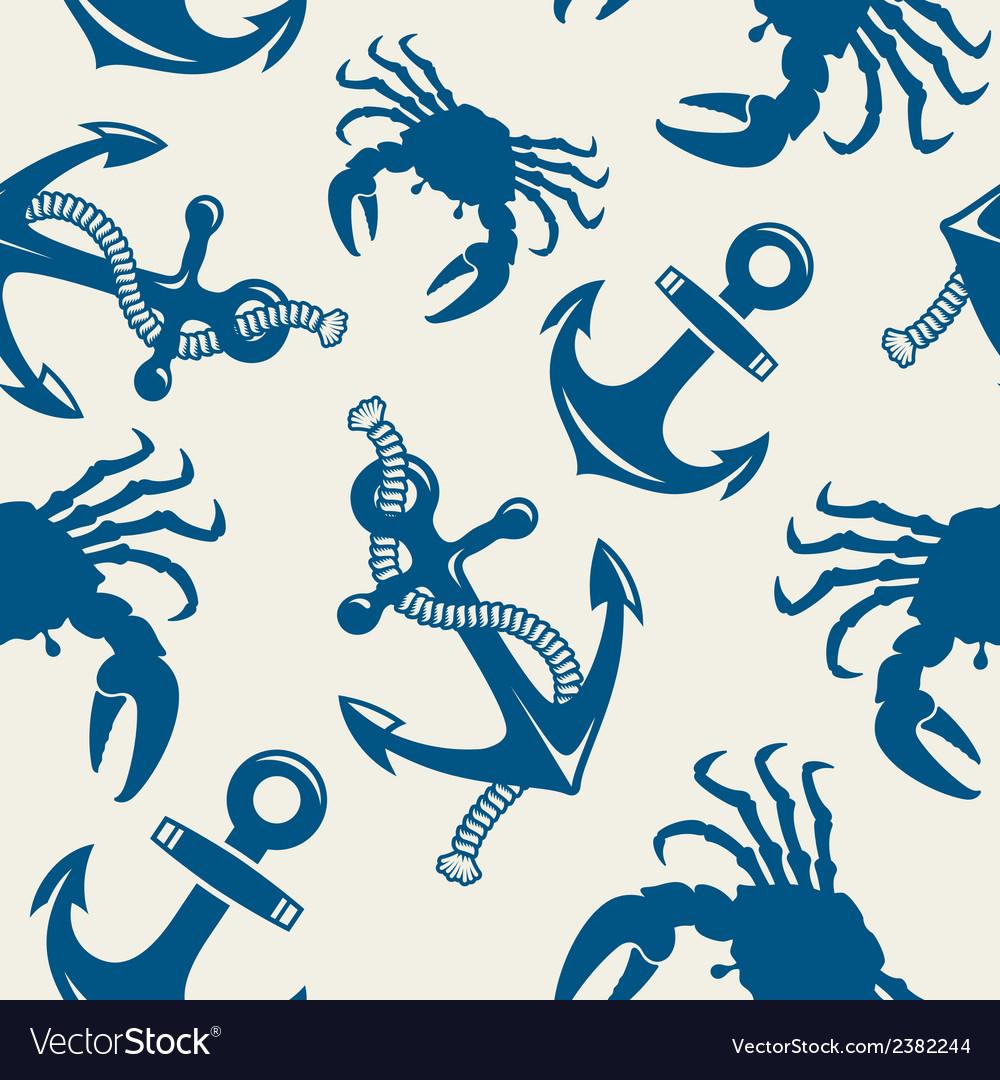 Seamless marine background vector | Price: 1 Credit (USD $1)
