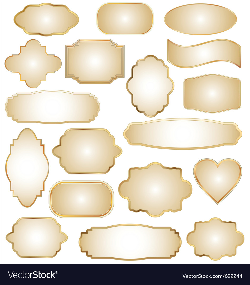 Set of ornate frames vector | Price: 1 Credit (USD $1)