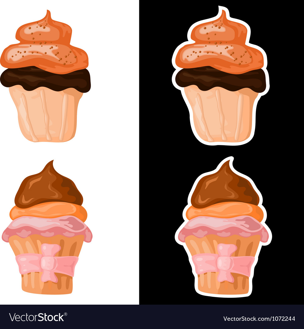 Set of sweet cakes eps10 vector | Price: 1 Credit (USD $1)