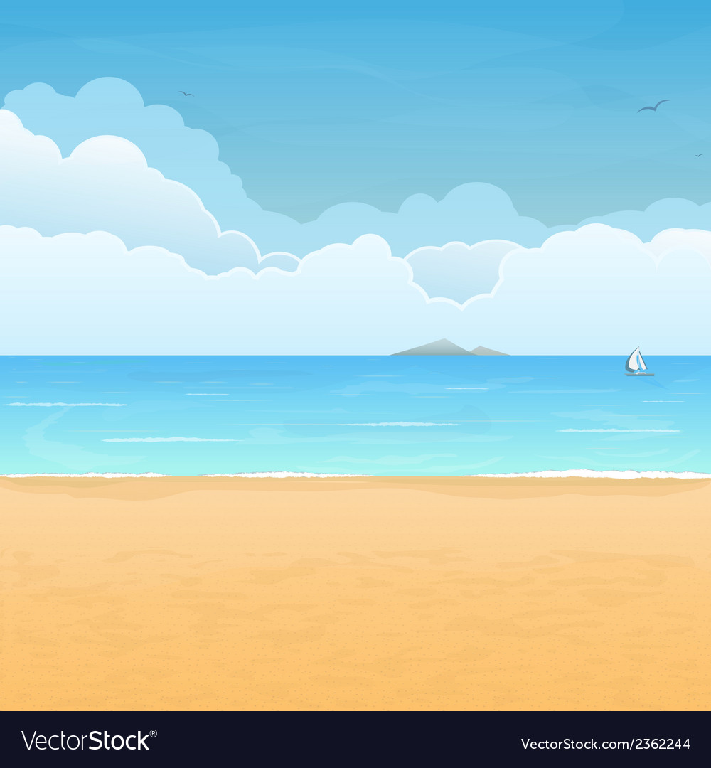 Tropical beach vacation vector | Price: 1 Credit (USD $1)