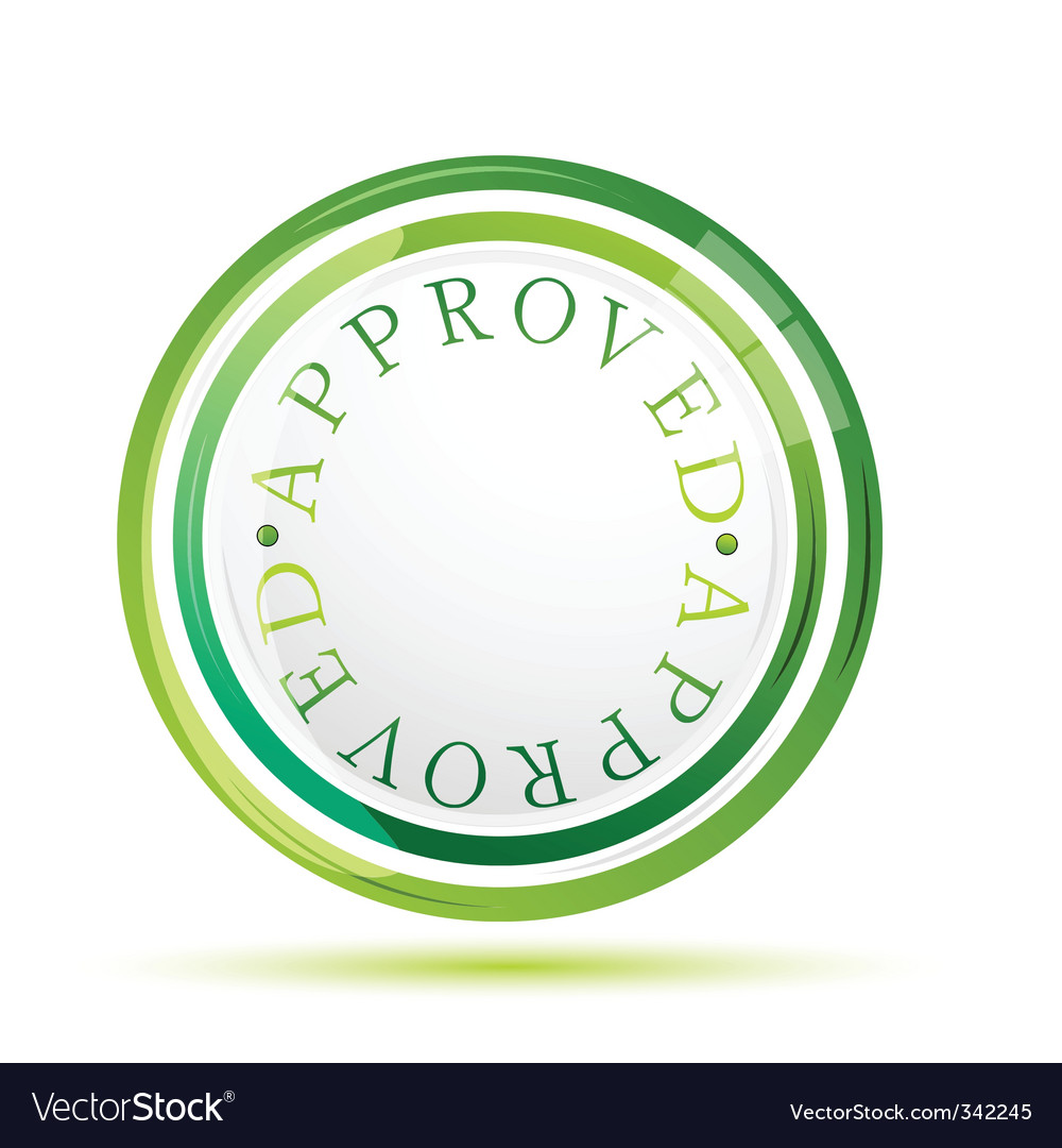 Approved sign vector | Price: 1 Credit (USD $1)