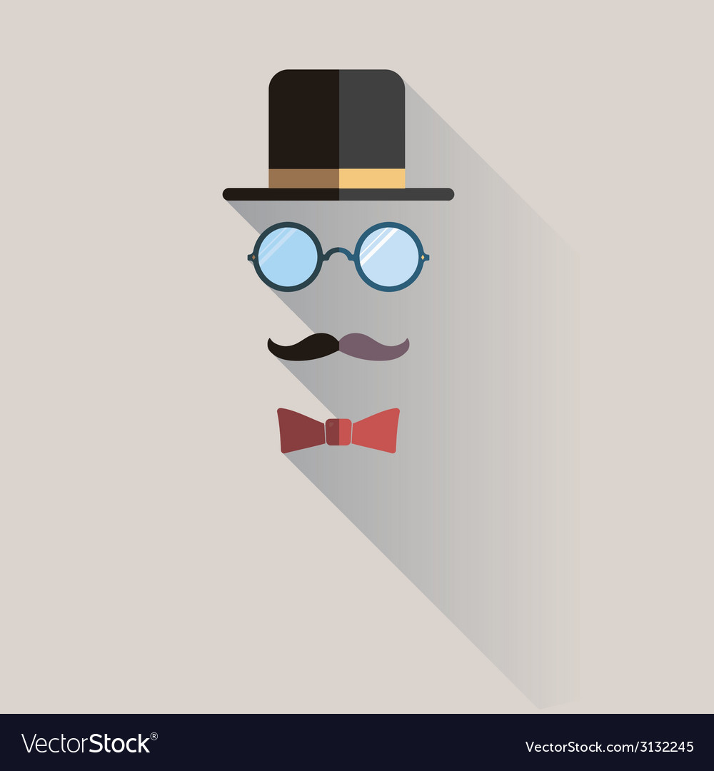 Gentlemen vintage man design element vector