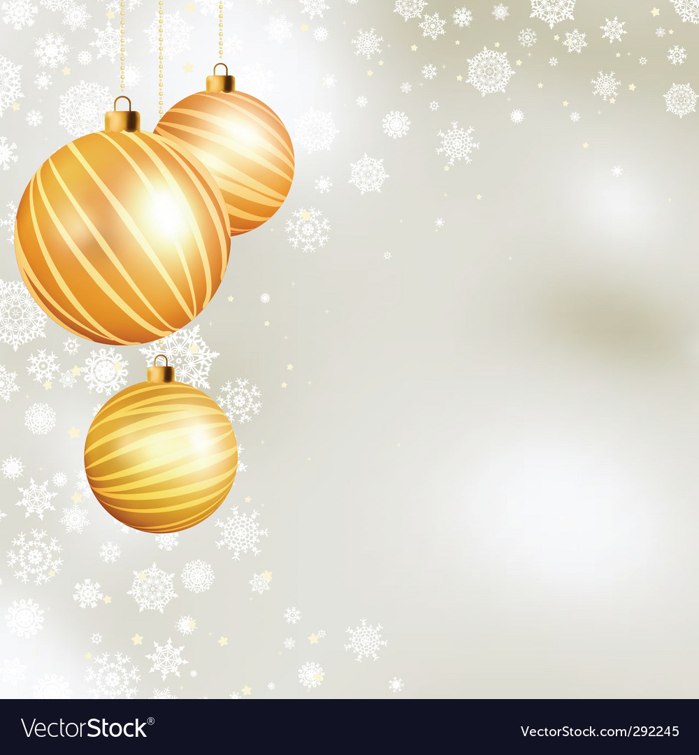 Gold christmas ball vector | Price: 1 Credit (USD $1)