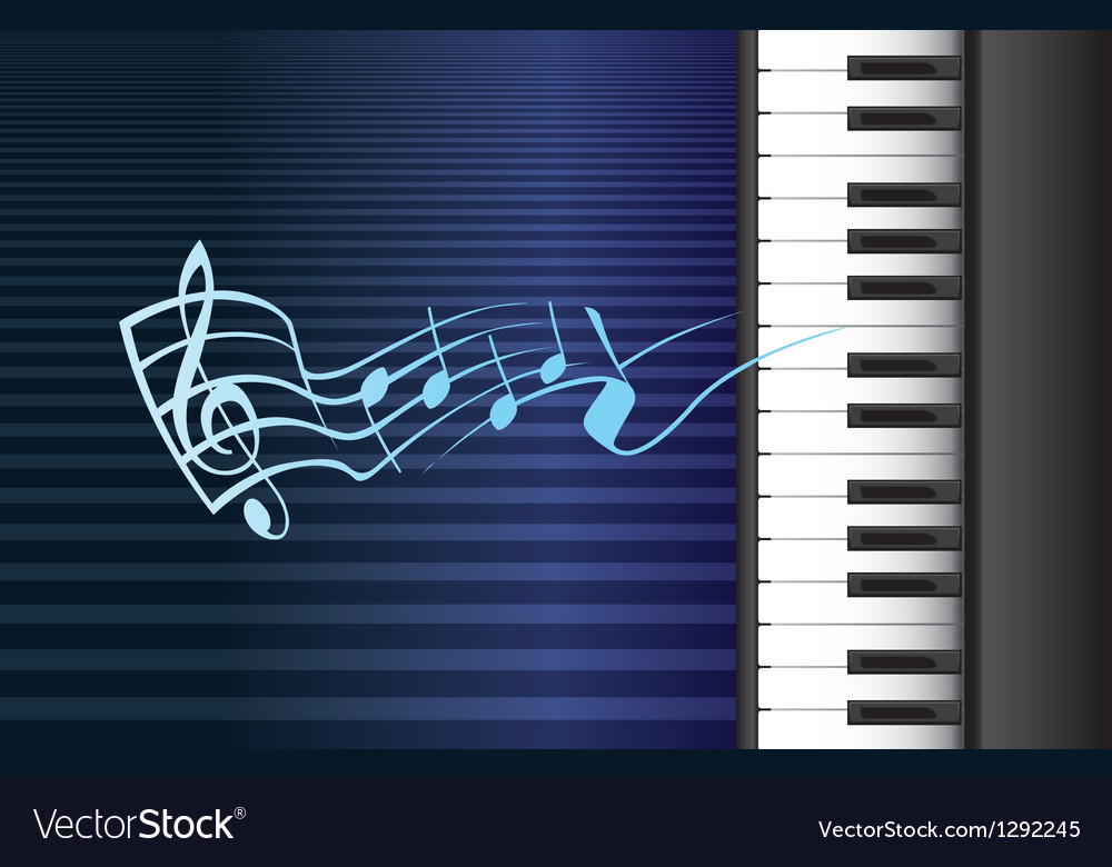 Piano music vector | Price: 1 Credit (USD $1)