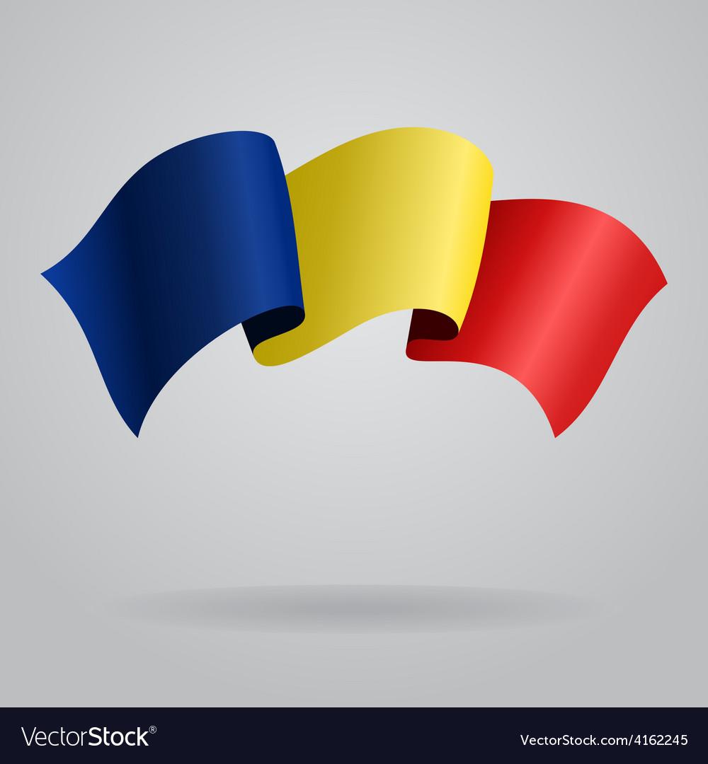 Romanian waving flag vector | Price: 3 Credit (USD $3)