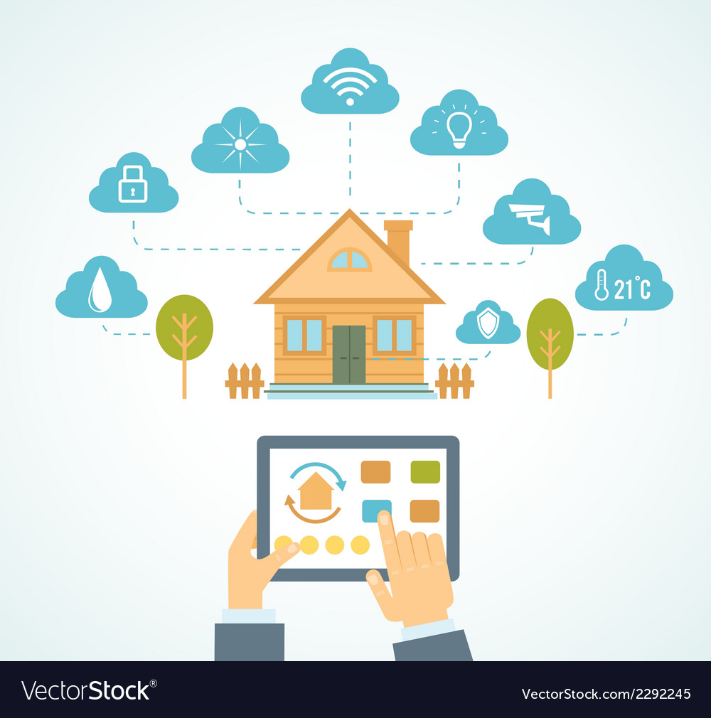 Smart house automation vector | Price: 1 Credit (USD $1)