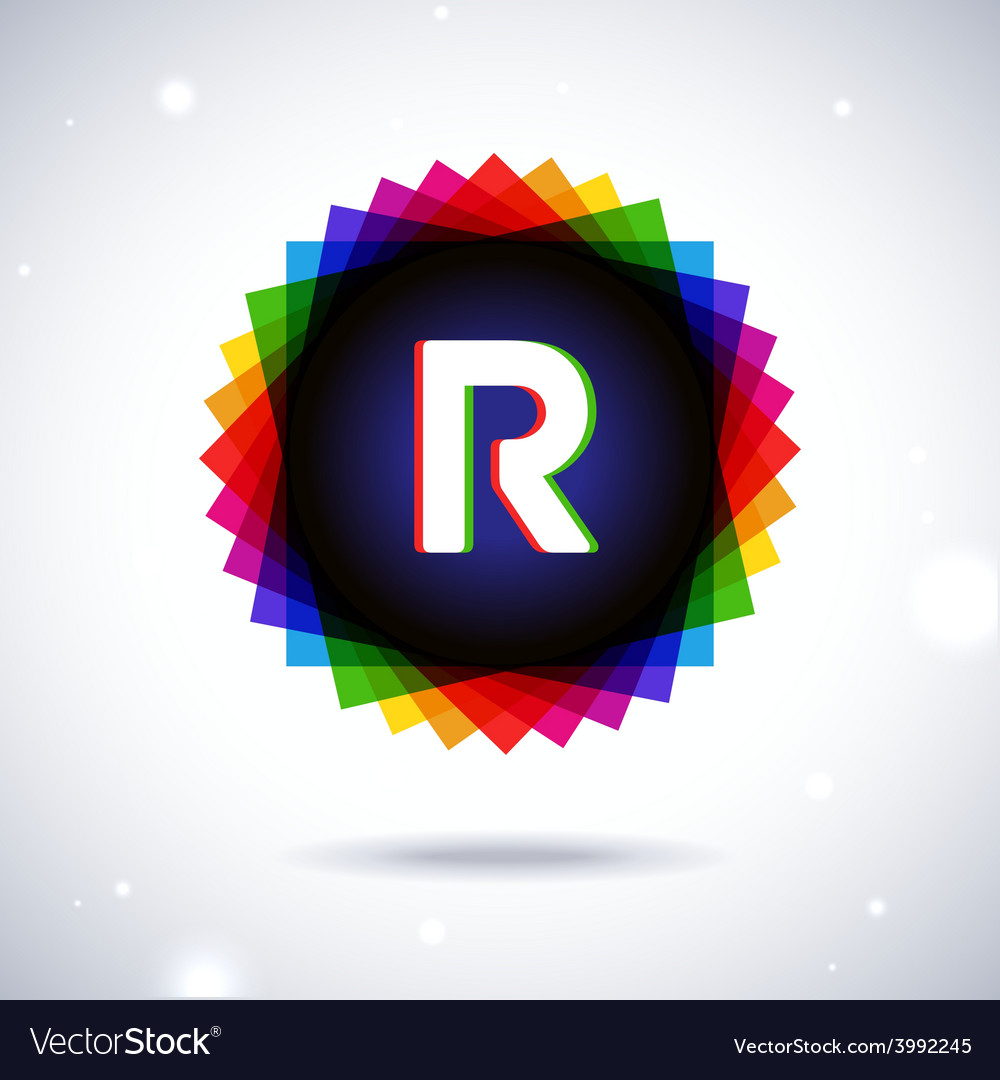 Spectrum logo icon letter r vector | Price: 1 Credit (USD $1)
