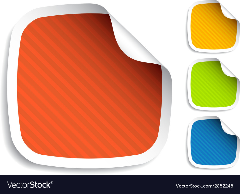 Striped stickers vector | Price: 1 Credit (USD $1)