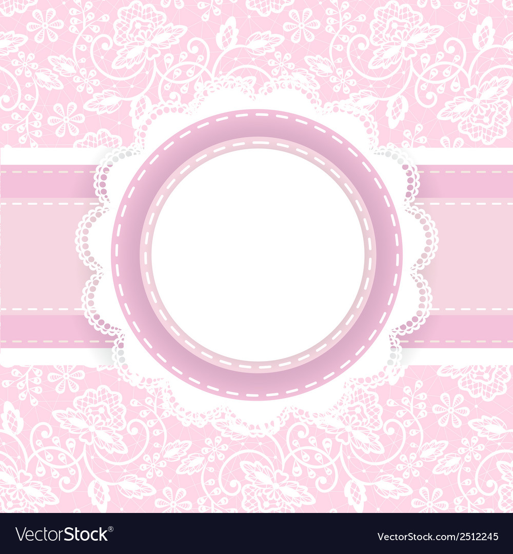 White lace on pink background vector | Price: 1 Credit (USD $1)