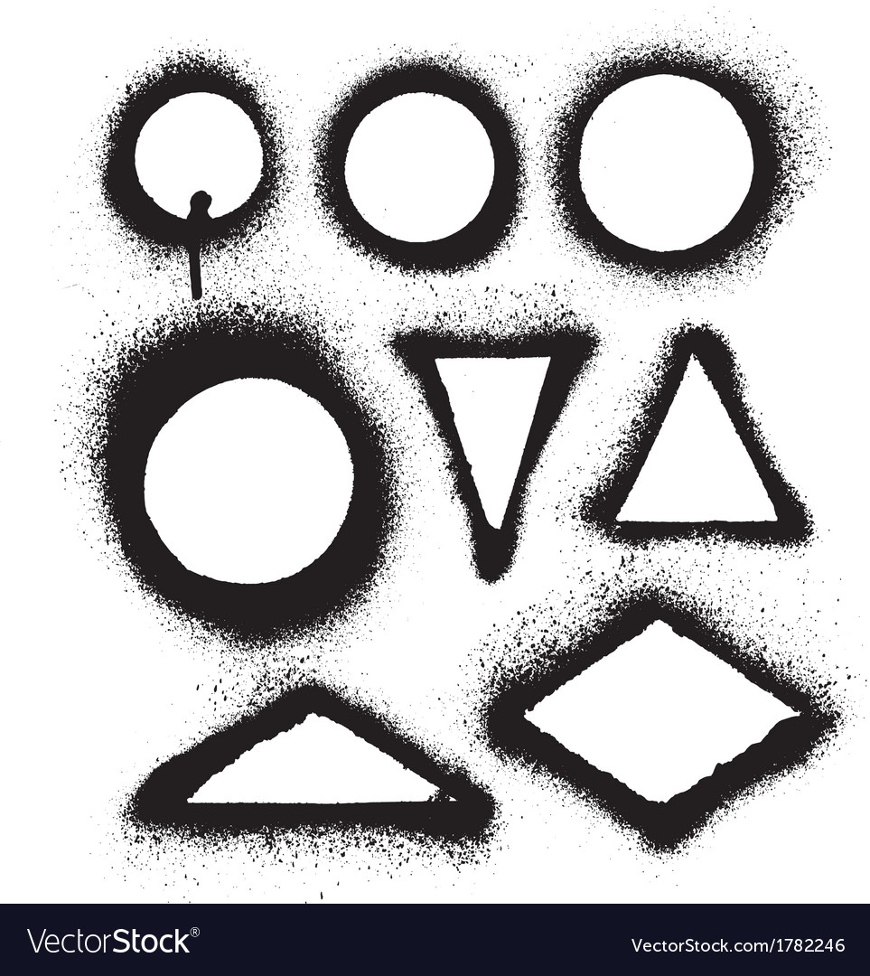 Aerosol spray paint frames vector | Price: 1 Credit (USD $1)
