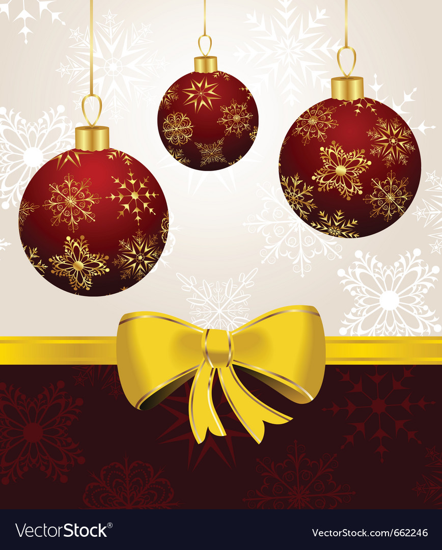 Background with christmas balls - vector | Price: 1 Credit (USD $1)