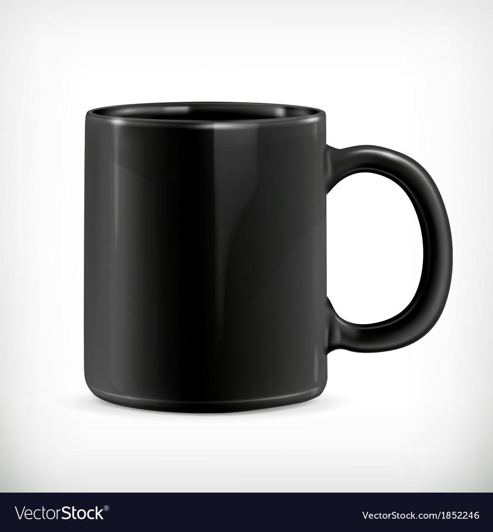 Black mug vector | Price: 1 Credit (USD $1)