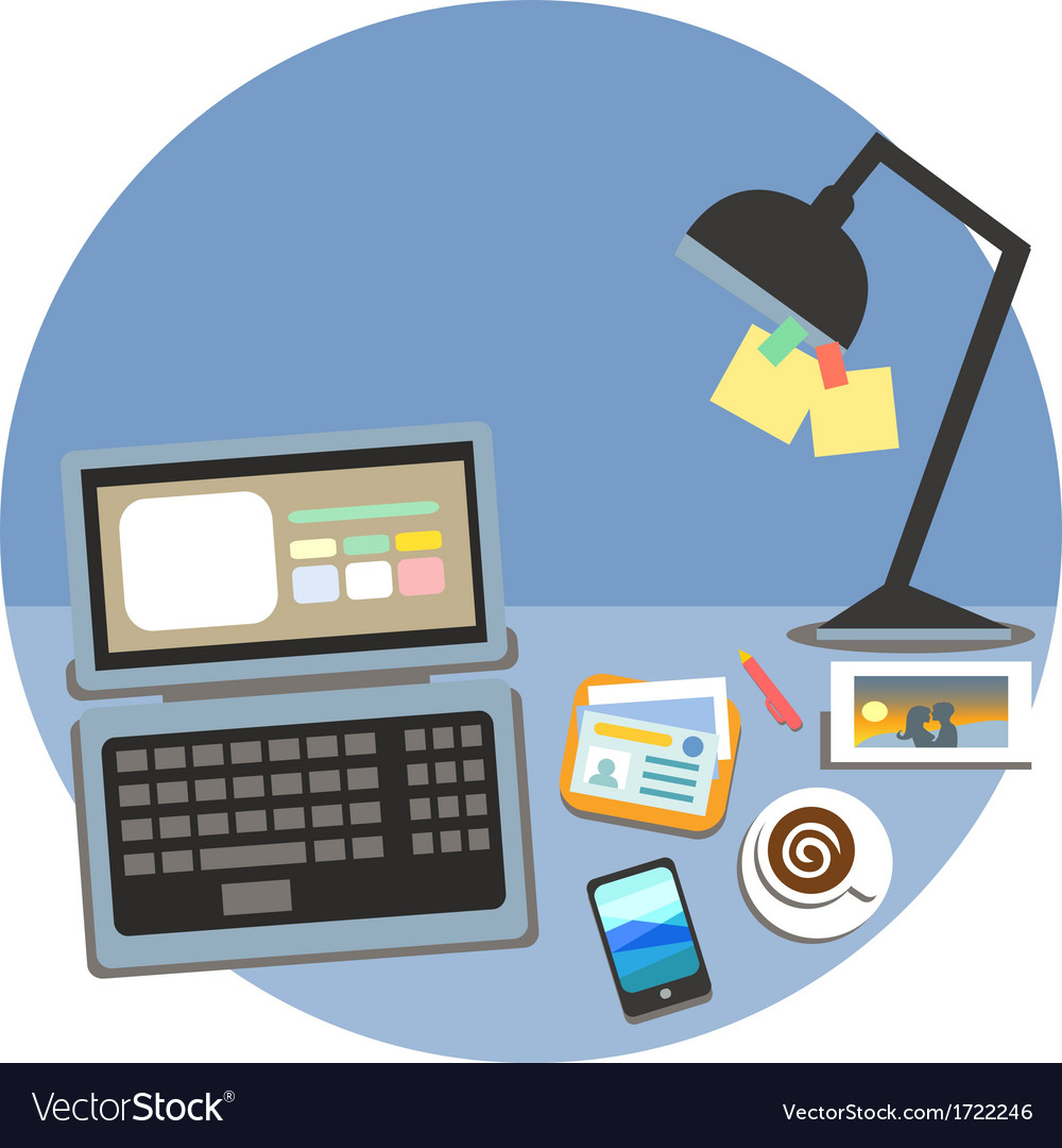 Business workplace cubicle concept vector | Price: 1 Credit (USD $1)