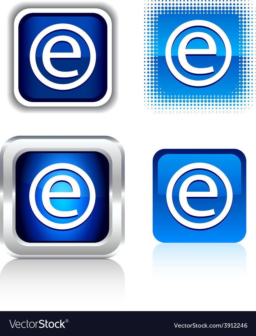 Enternet icons vector | Price: 1 Credit (USD $1)