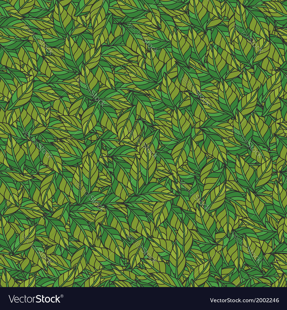 Leaves texture seamless pattern vector | Price: 1 Credit (USD $1)
