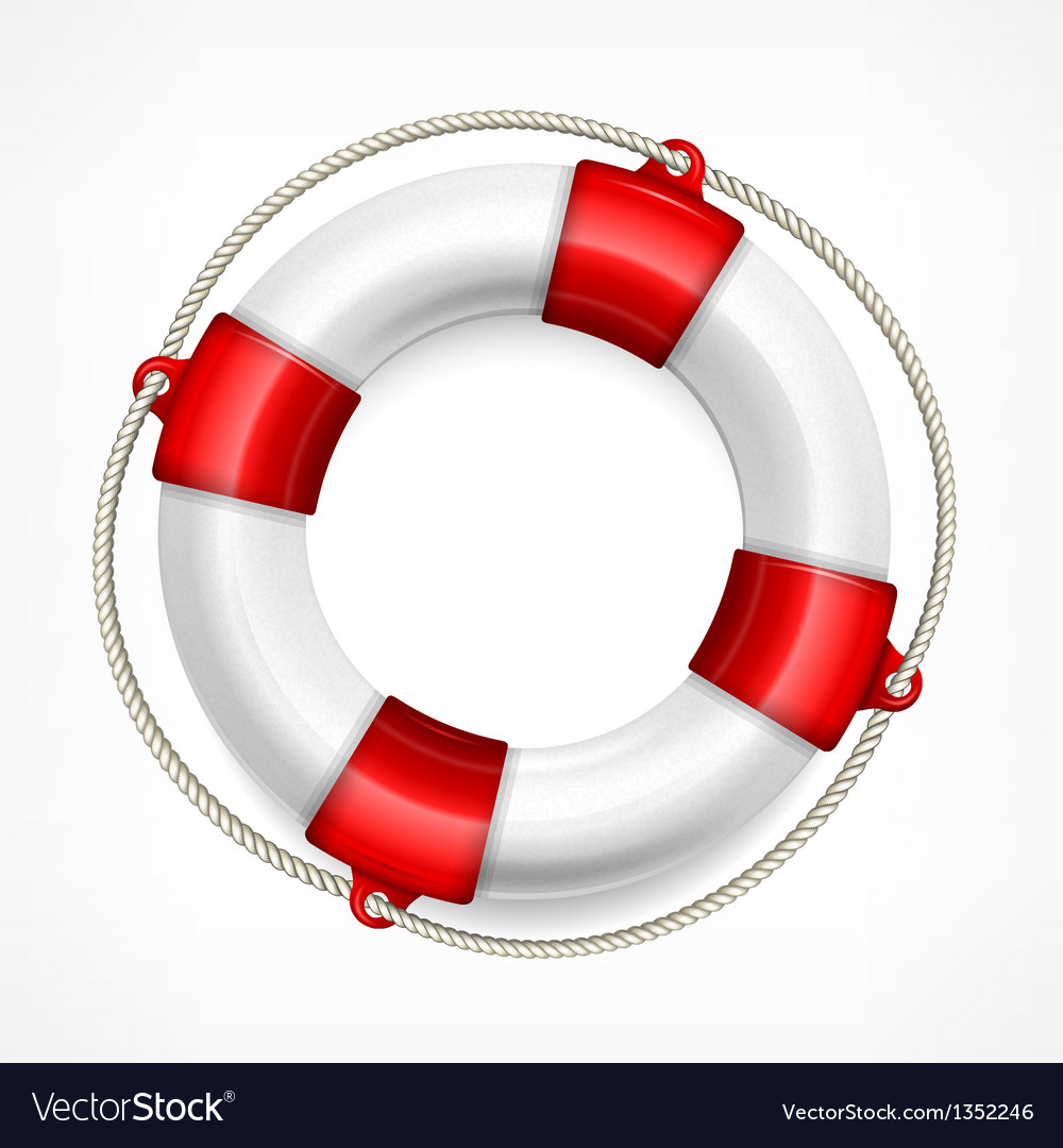 Life buoy on white vector | Price: 1 Credit (USD $1)
