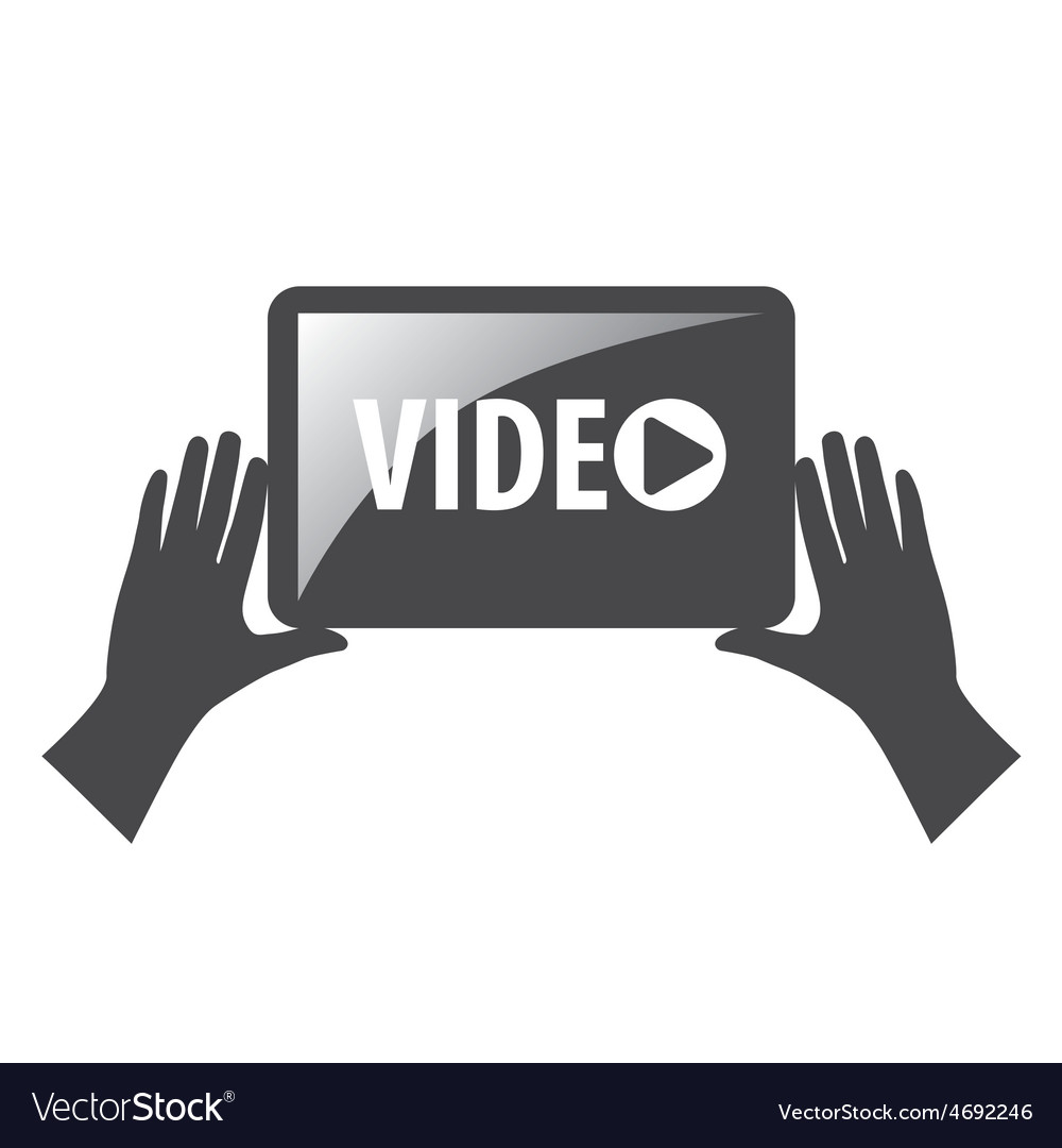 Logo view video in the hands vector | Price: 1 Credit (USD $1)