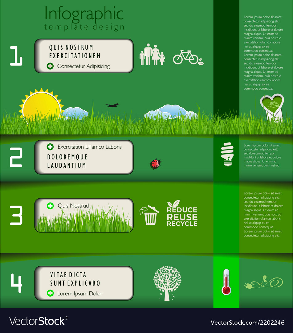 Modern green ecology template design vector | Price: 1 Credit (USD $1)