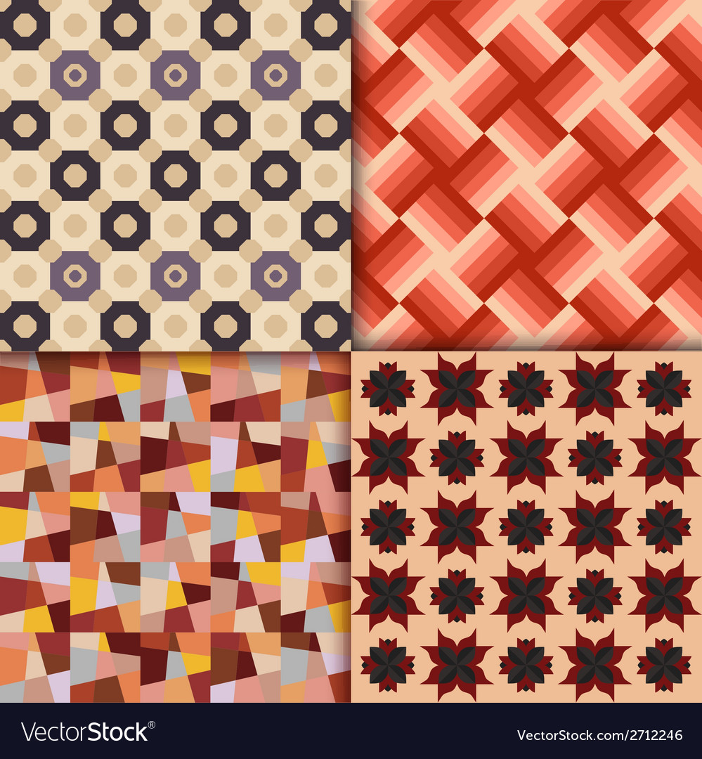 Retro style geometric patterns background vector | Price: 1 Credit (USD $1)