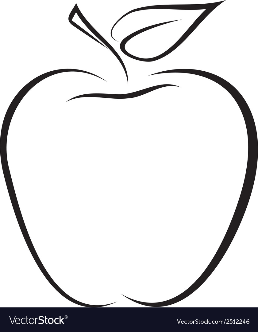 Sketch of apple vector | Price: 1 Credit (USD $1)