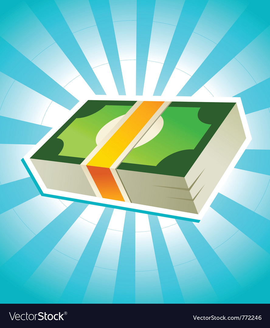 Stack money vector | Price: 1 Credit (USD $1)