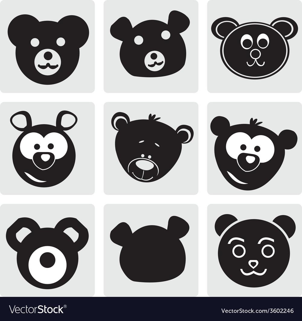 Teddy bear face vector | Price: 1 Credit (USD $1)