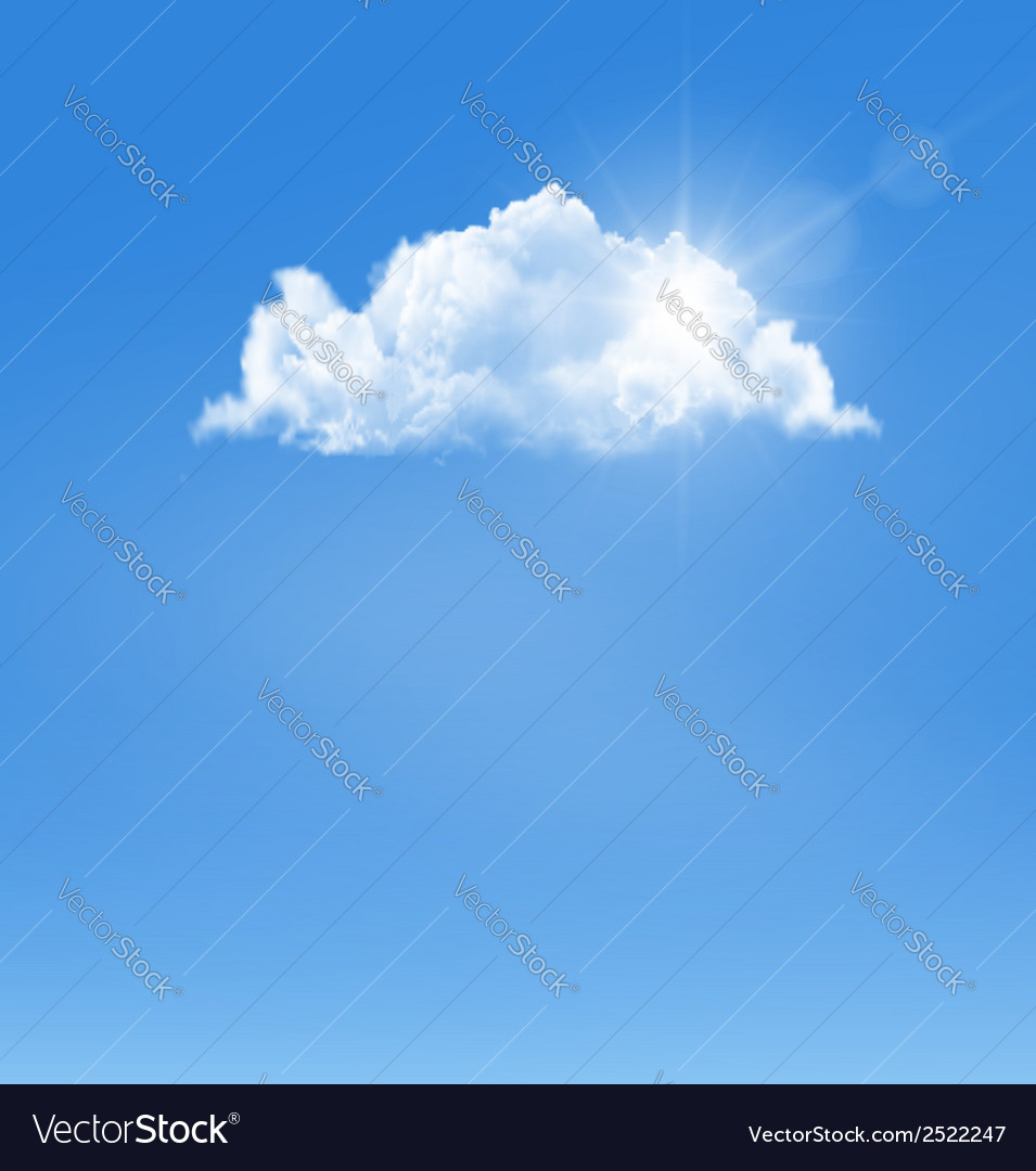 Background with blue sky and a cloud vector | Price: 1 Credit (USD $1)