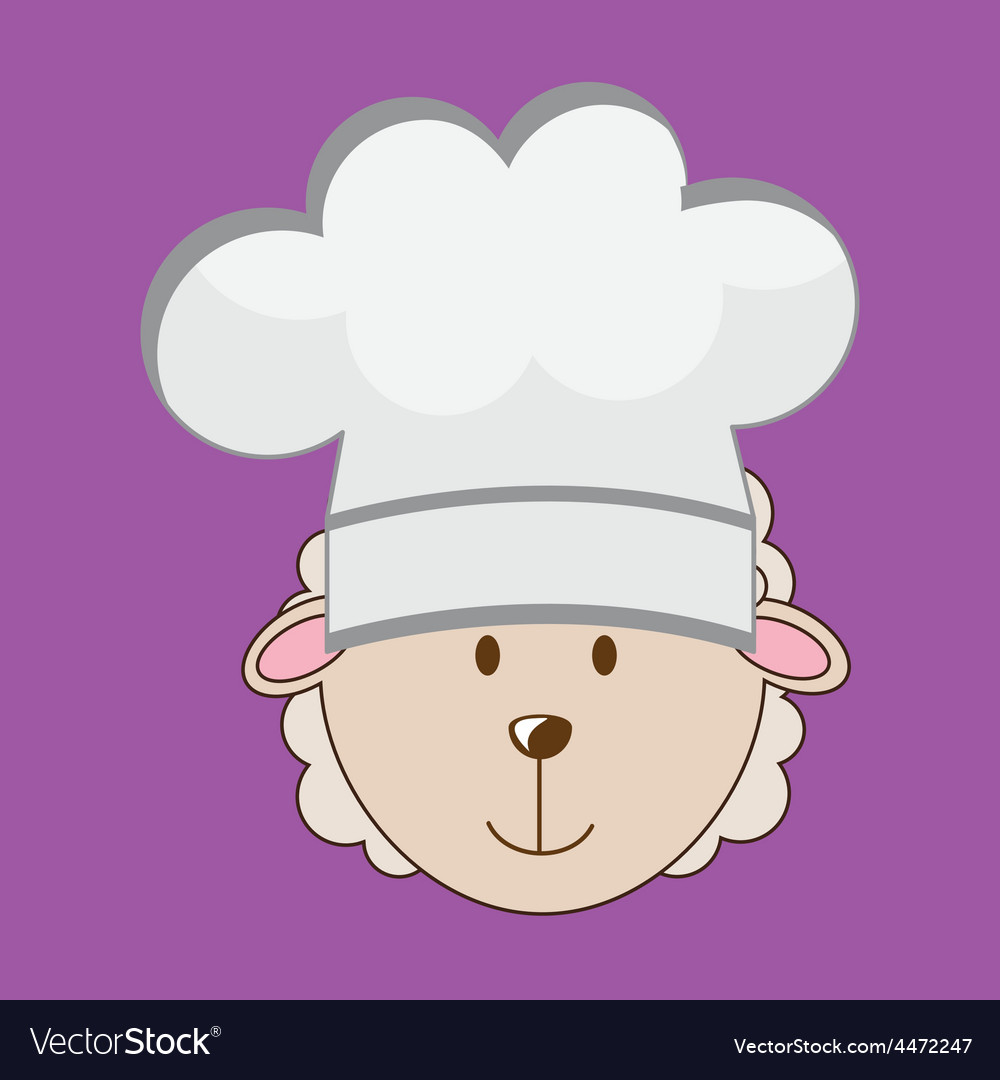 Chef lamb vector | Price: 1 Credit (USD $1)