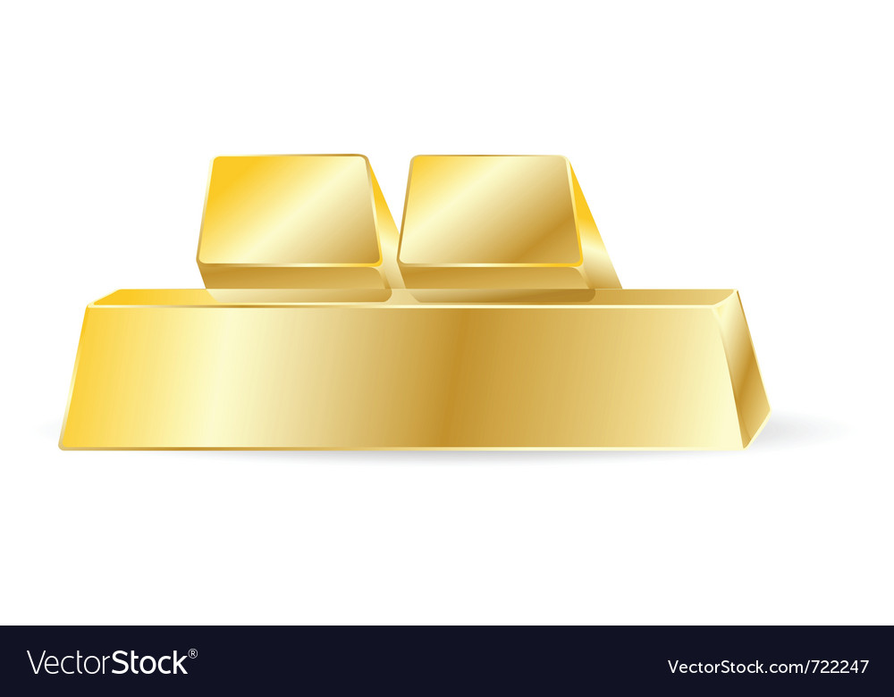 Gold bar vector | Price: 1 Credit (USD $1)