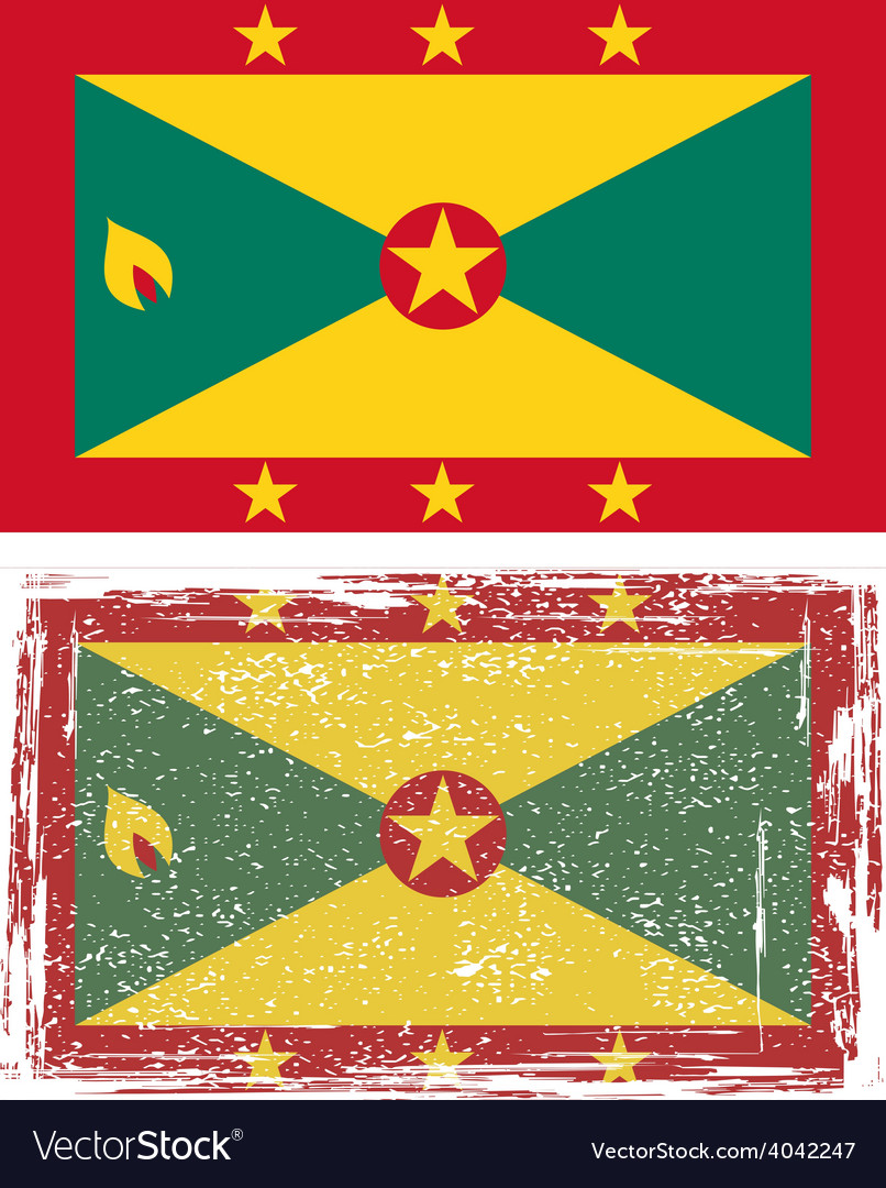 Grenada grunge flag vector | Price: 1 Credit (USD $1)