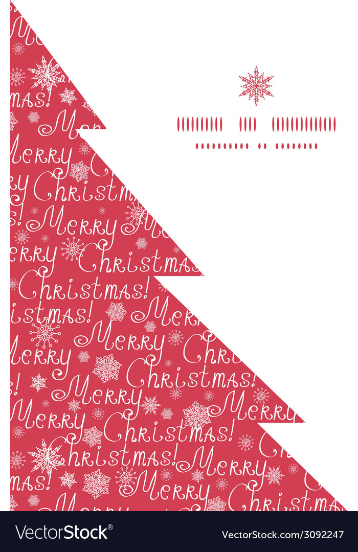 Merry christmas text pine tree silhouette pattern vector | Price: 1 Credit (USD $1)