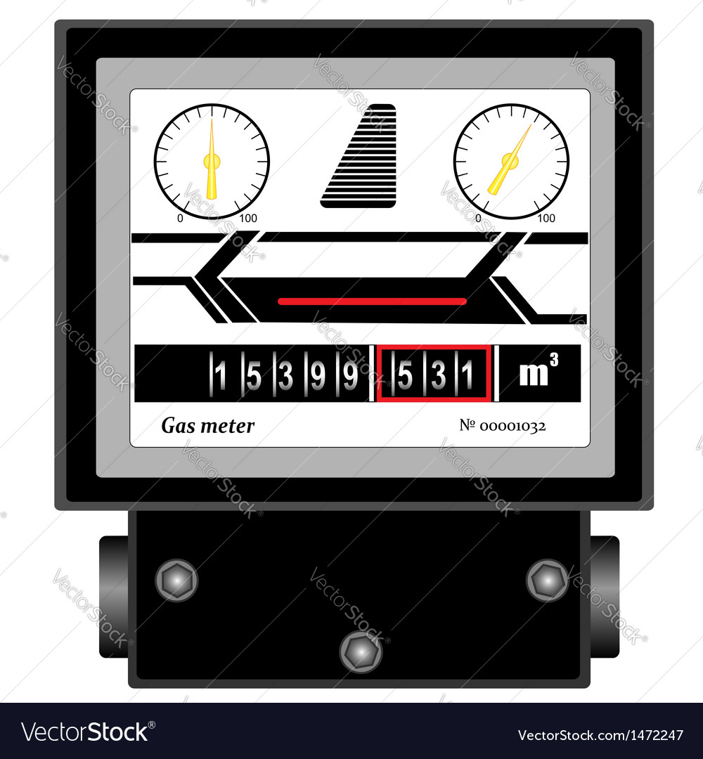 Natural gas meter vector | Price: 1 Credit (USD $1)